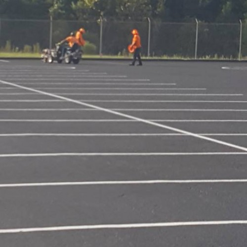 Putting lines down in Charleston, SC for parking at the Charleston International Airport Job Photos