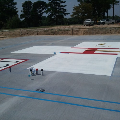 Line Striping Job Photos
